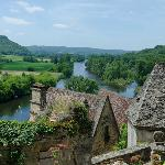 A view of the Dordogne valley from a nearby village