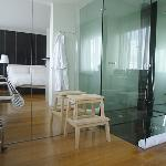 Shower/Bathroom area of room!