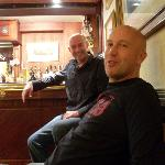 Me in the bar with Simon (a local whos now under the thumb)