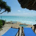 The private beach & mini pools
