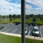 View of parking lot from 2nd floor room (facing east)
