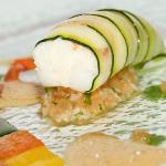 Zucchini wrapped langoustine