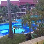 1 of the 3 pools and view from room