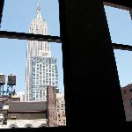 View from my room on the 9th floor: the Empire State Building.
