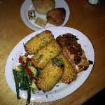 Salmon w/ Corn-on-the-cob