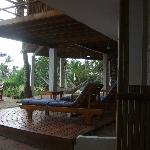 View from our room to the public areas esp. hammocks!
