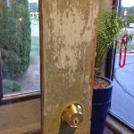 Dirty entrance door