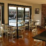 Dining area at Atlantic Pizza