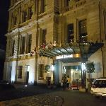 The understated entrance to the Grand Hotel