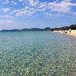 La spiaggia di Costa Rei a pochi minuti dall'hotel. E c'è ancora chi va ai Caraibi...