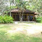 Vue d'un bungalow