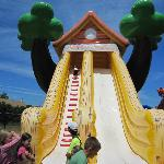 One of many fun slides at the park