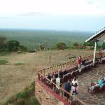 Viewing area for leopard feeding