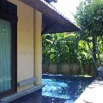 Your own spacious private pool and lounging area in the Pool Villa