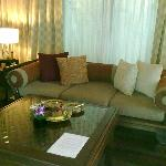 Very spacious and comfortable lounge room in the Pool Villa