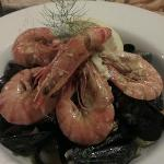Garlic king prawns and mussels