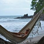 hammock on the private beach