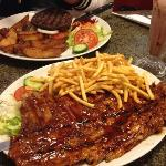 Ribs, Fries, Shake & Burger