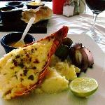 Lobster, grilled veggies, mashed tater's
