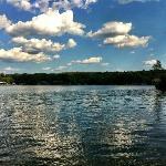 View of Lake Hamilton from swim area