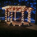 Gazebo at night