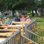 Outdoor dining at the Chowder House Restaurant