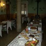 la sala ristorante adibita alla colazione