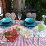 Michela prepared a refreshing lunch for us when we arrived