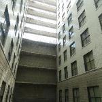 The hotel inner court.