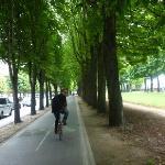 EN PLENO TOUR EN BICI POR LAS CALLES DE PARIS