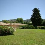 le jardin et vue sur les Alpilles