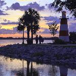 Lake Dora Lighthouse about three blocks away