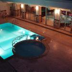The bar pool at night