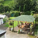 The rear garden