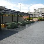 Rooftop bar/lounge. The pool and deck are just around the corner