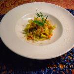 fagottini di fagiano con ragu di verdure croccanti