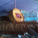 CIP's Wannalai Cabana Bar; draft beer pouring at 29 degrees!