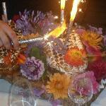 flambierte Eistorte mit Meringe