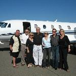 NV Tours' clients at Napa Airport