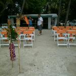 chairs set up for the ceremony