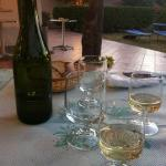 local wine was served with the excellent Orata