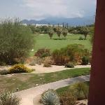 Overlooking golfcourse and mountains