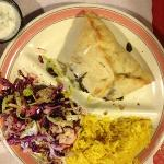 Spinach Fatayer Combo with cabbage salad