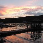 Sunset at Big Moose Inn