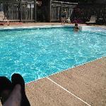 Nice clean, big pool!