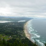 Looking down on Manzanita from the mountain