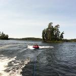 tubing on Burntside lake
