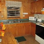 Kitchen in one of the cabins