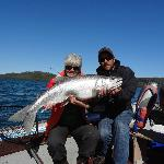 A 21 lb lake trout that was hugged and released.
