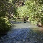 River near cabins